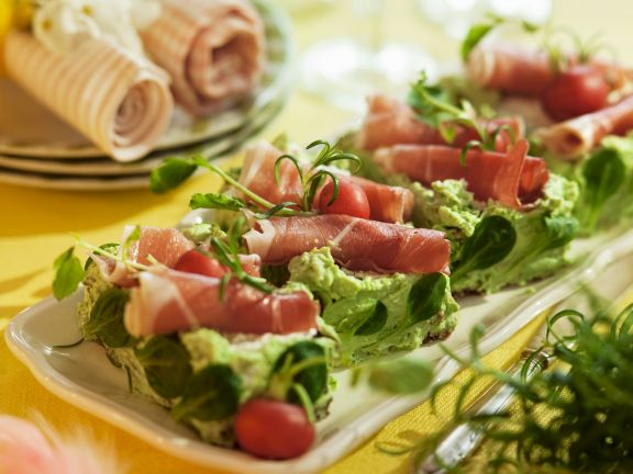 Prosciutto and Herb Slices