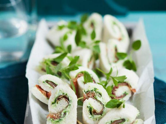 Prosciutto Sandwich Roulades