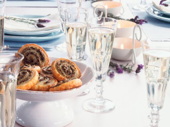 Puff Olive and Herb Pinwheels