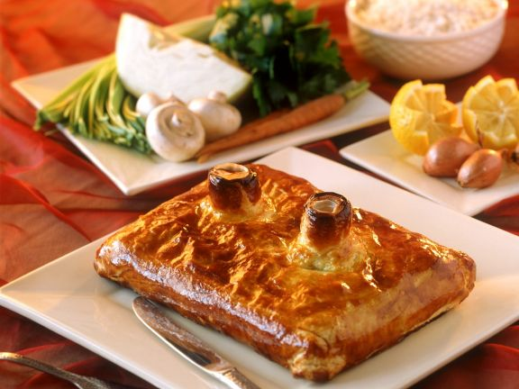 Puff Pastry Pie with Salmon