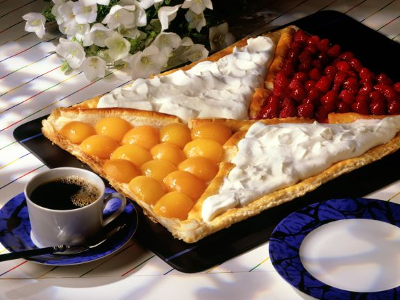Puff Pastry Tart with Fruit and Whipped Cream