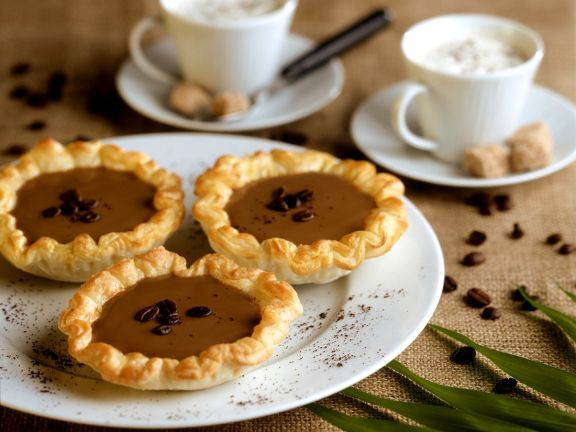 Puff Pastry Tartlets with Coffee Cream