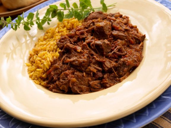 Pulled Chilli Pork with Rice