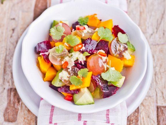 Pumpkin and Beet Salad with Cilantro