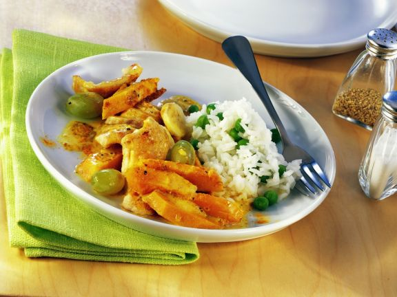 Pumpkin and Chicken Saute with Rice
