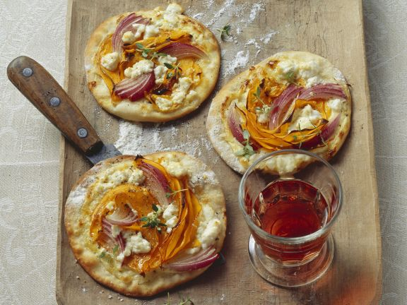Pumpkin and Feta Flatbread