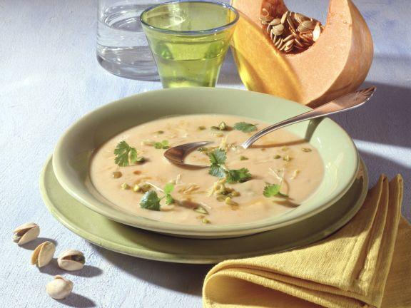 Pumpkin and Pistachio Soup with Lemongrass