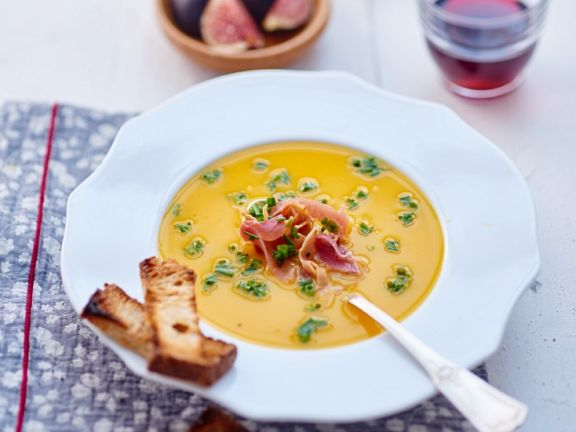 Pumpkin Bisque with Chives
