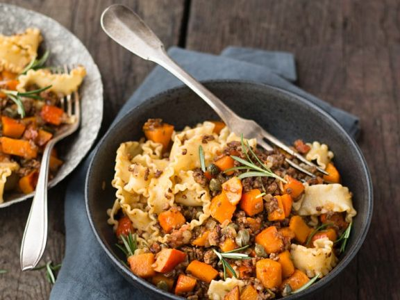 Pumpkin Bolognese with Pasta