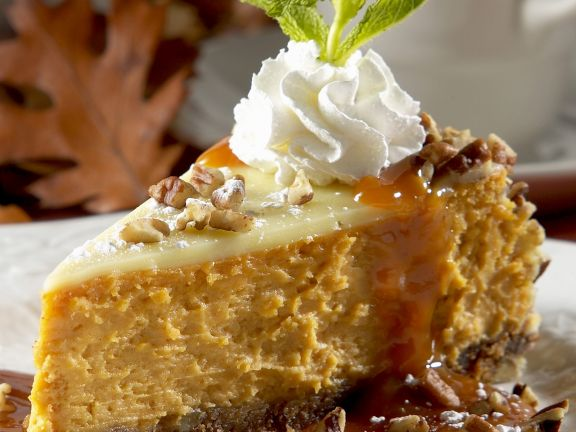 Pumpkin Cheesecake with Walnuts