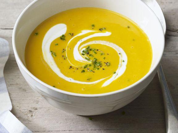 Pumpkin Soup with Coconut Cream