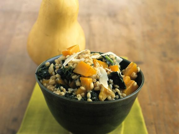 Pumpkin, Spinach and Grain Salad
