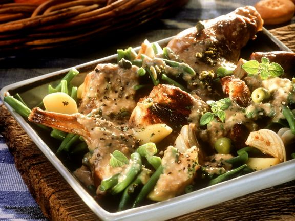 Rabbit Ragout with Vegetables