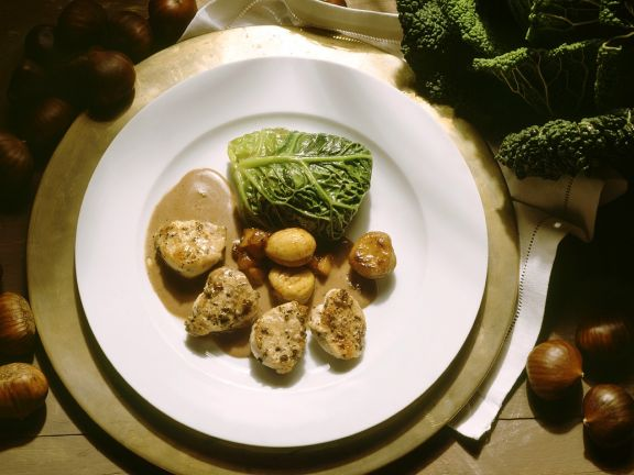 Rabbit with Cabbage Rolls