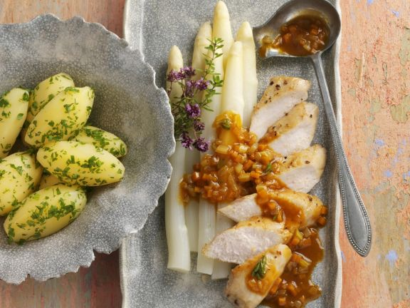 Rabbit with White Asparagus
