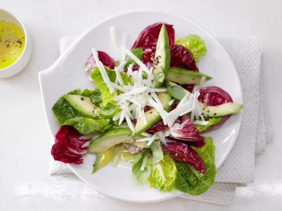 Radicchio and Romaine with Avocado