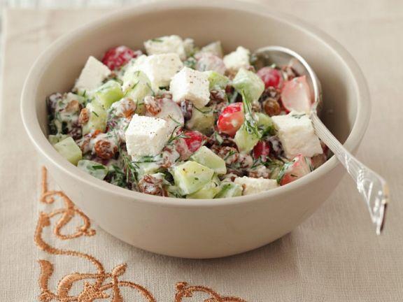 Radishes and Cucumber Salad with Quark