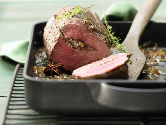 Beef Tenderoin with Mushroom Stuffing