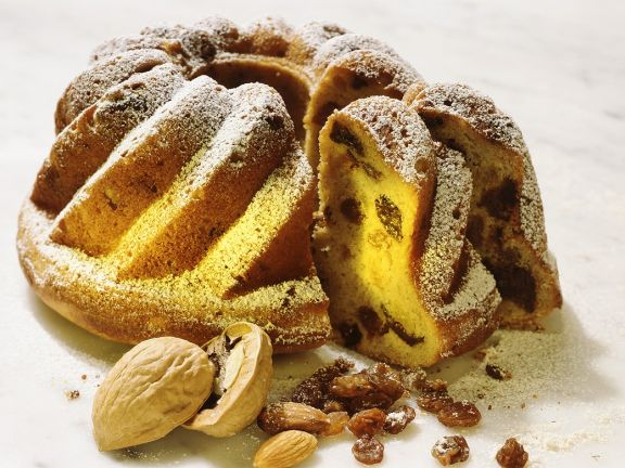 Raisin Walnut Bundt Cake