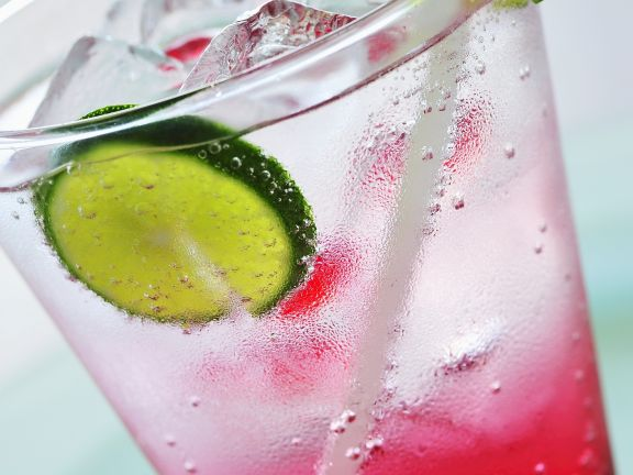 Raspberry-Lime Soda