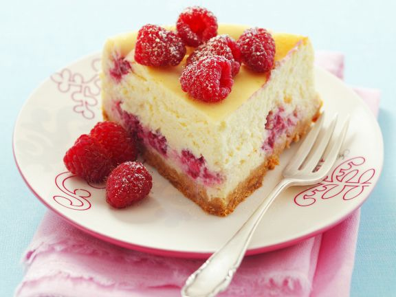 Raspberry Quark Cheesecake