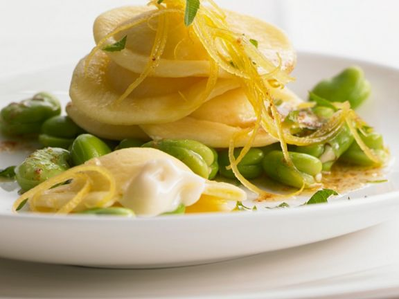 Ravioli with Broad Beans