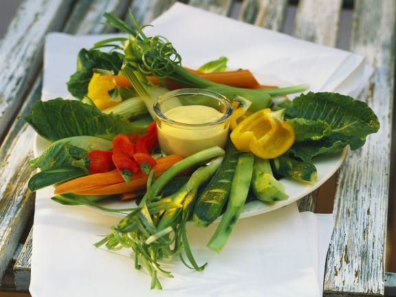 Raw Vegetables with Aioli