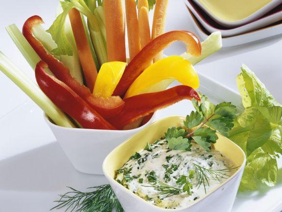 Raw Veggie Crudités with Dip