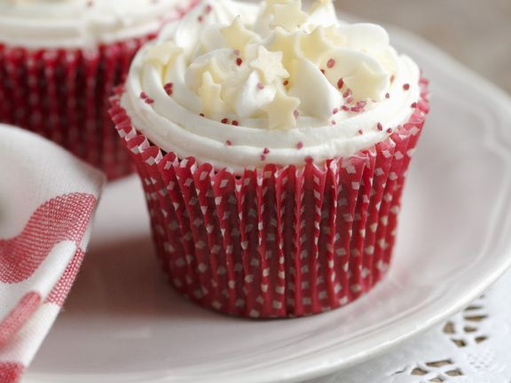 Red and White Muffins