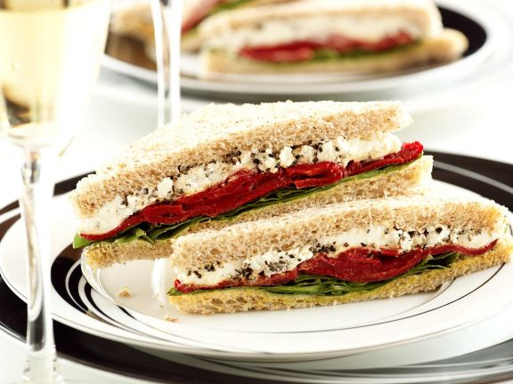 Bell Pepper and Goat Cheese Sandwich