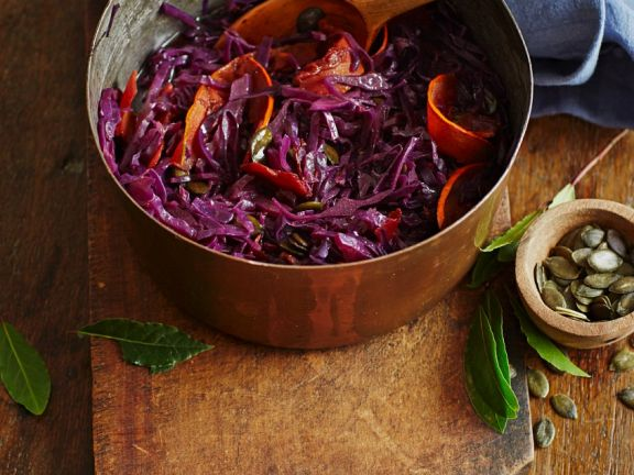 Red Cabbage with Pumpkin