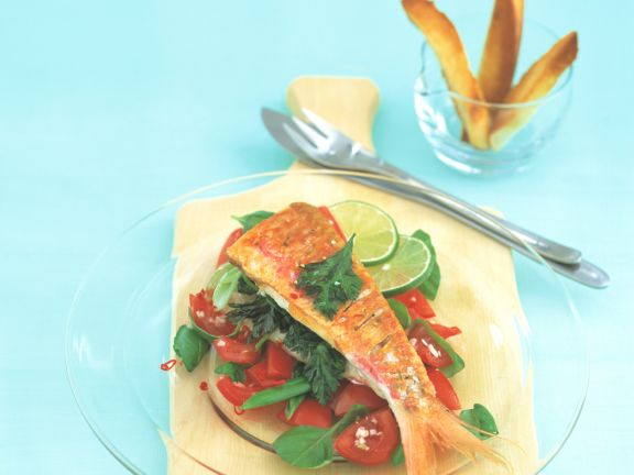 Red Mullet with Tomato Salsa