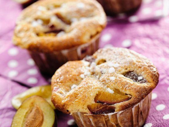 Red Plum and Walnut Muffins
