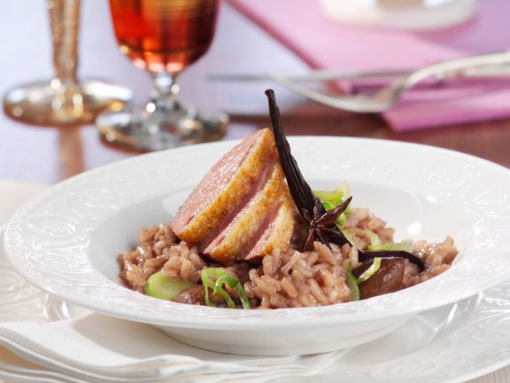 Red Wine Risotto to Duck Breast