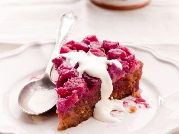 Rhubarb and Strawberry Cake