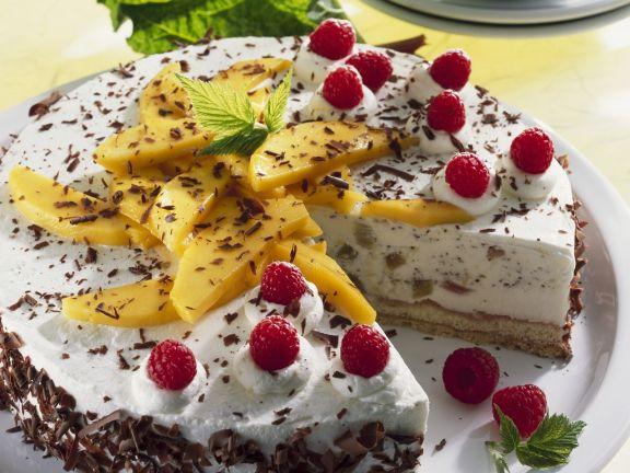 Rhubarb Raspberry Cheesecake