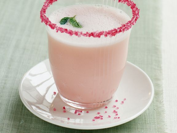 Rhubarb Smoothie with Rosewater