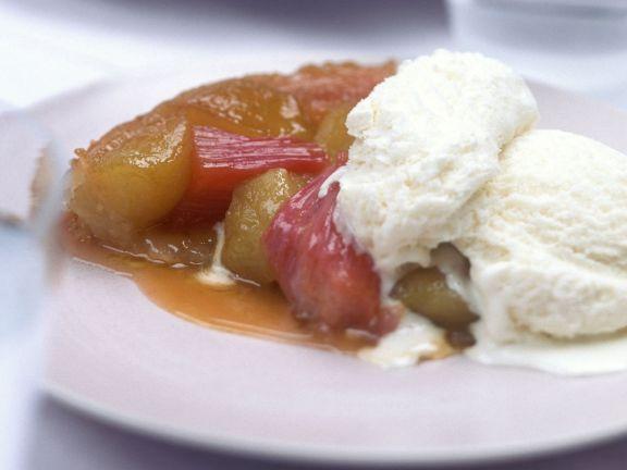 Rhubarb Tatin Tart