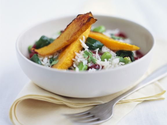 Rice Bowl with Sweet Potato Wedges