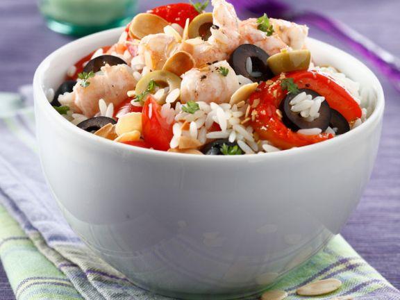 Rice, Shrimp, and Olive Salad
