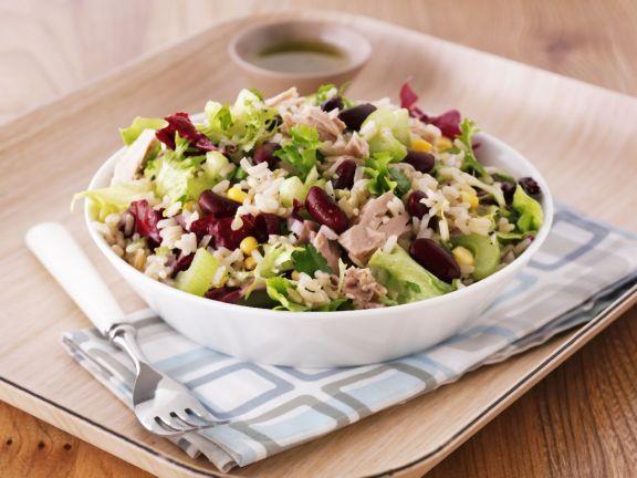 Rice, Tuna, Corn and Kidney Bean Salad