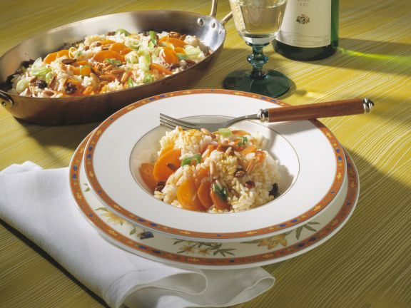 Rice with Carrots, Pine Nuts and Raisins