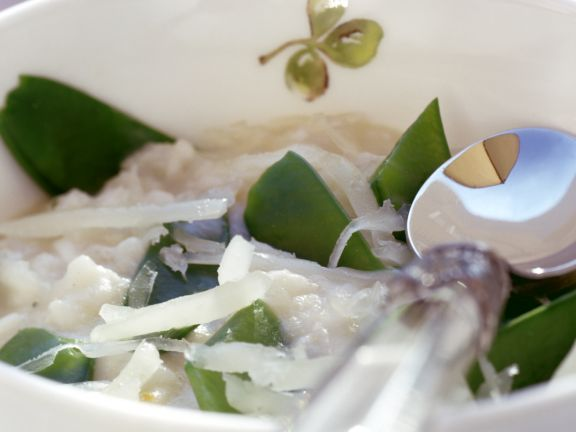 Risotto with Snow Peas