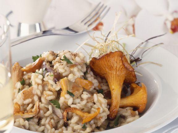 Mixed Mushroom Rice Dish