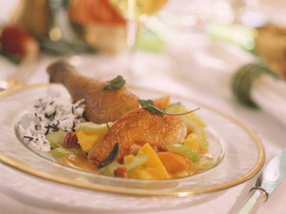 Roast Bresse Chicken with Sweet Potato Stuffing