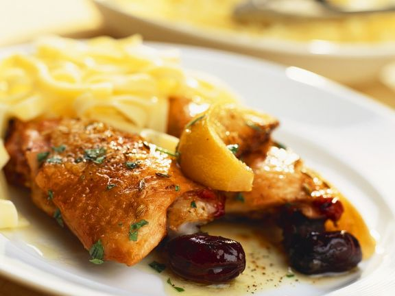 Roast Chicken with Olives and Lemon