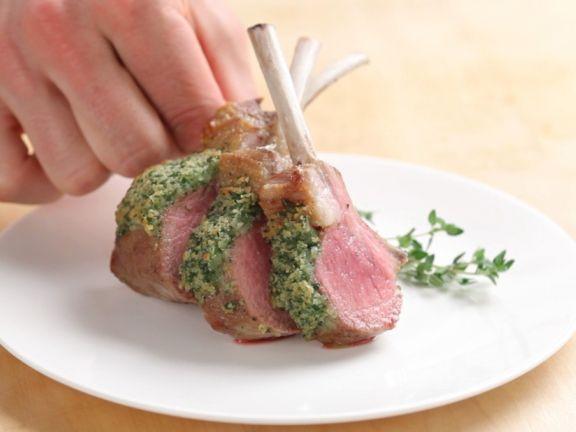 Roast Lamb Rack with Herb Crust