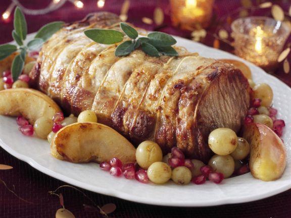 Roast Pork Leg with Fruit