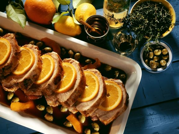 Roast Pork with Olives and Oranges