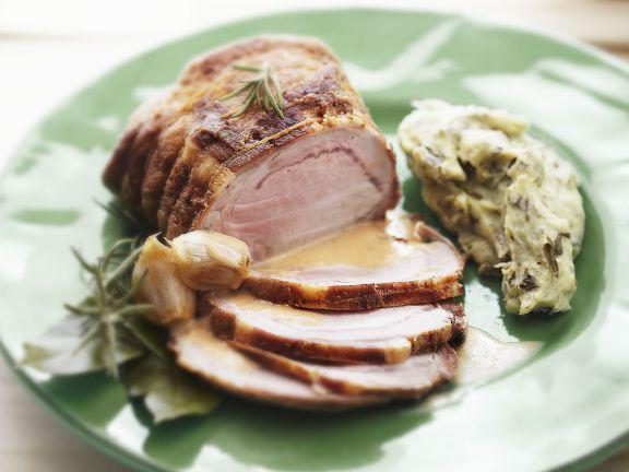 Roast Pork With Sorrel Mashed Potatoes